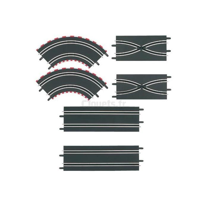 6 X Nouveau Carrera Go Track 90 Deg Angle//courbe 61603 NEUF 6 Pcs