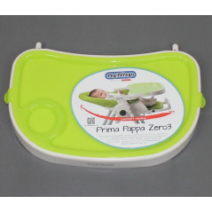 Tablette Blanche/Verte pour chaise haute Prima Pappa Zero 3 Peg-Pérego