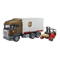 Camion de Logistique Scania R-Serie UPS avec chariot élevateur Bruder 03581