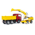 Camion MAN avec éxcavatrice LIEBHERR BRUDER 02751 BRUDER 44,95 €