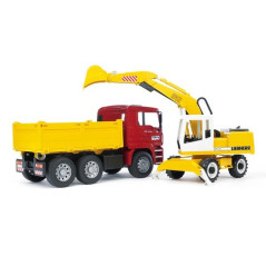 Camion MAN avec éxcavatrice LIEBHERR BRUDER 02751