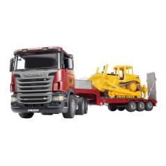 Camion Scania avec bulldozer BRUDER 03555 Camions