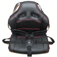 Siège look cuir avec harnais pour véhicule électrique pour enfant
