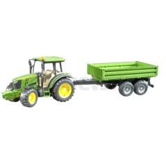 Tracteur John Deere avec remorque plateau BRUDER 02108