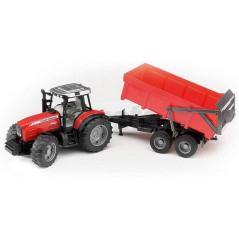 Tracteur Massey Ferguson avec benne basculante Bruder 02045