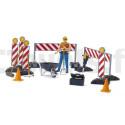 Kit de chantier avec personnage - BRUDER - 62000 BRUDER 62000