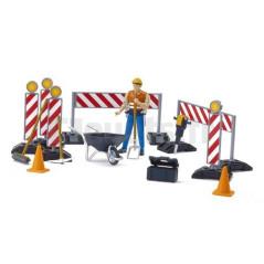 Kit de chantier avec personnage - BRUDER - 62000 BRUDER 20,99 €