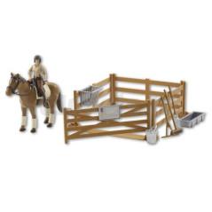 Kit équitation avec personnage BRUDER 62500