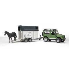 Land Rover Defender avec van BRUDER 02592