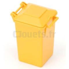 Poubelle jaune BRUDER