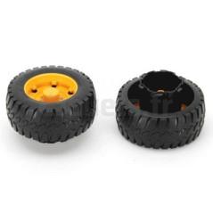 2 roues 85/35-50 avec adaptateur pour niveleuse BRUDER 02436 Pièces BRUDER 02436