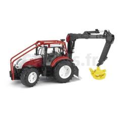 Tracteur forestier Steyr CVT 6230 avec chargeur Bruder 03092