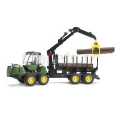 Porteur de bois avec grappin John Deere 1210E Bruder 02133