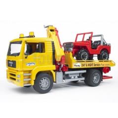 Dépanneuse MAN TGA + Jeep BRUDER 02750