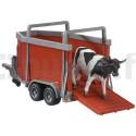 Remorque bétaillère + vache BRUDER 02029
