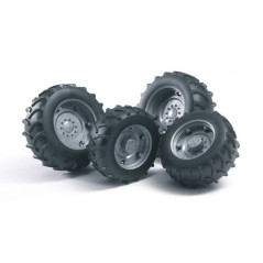 Roues jumelées grises pour tracteurs Serie 2000 BRUDER 02001
