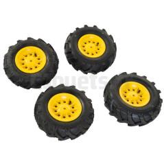 4 Roues pneus souples pour tracteurs Rolly Toys 409860