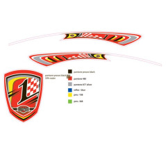 Autocollant spoiler Racing Berg 50.92.47.76 BERGTOYS 50.92.47.76