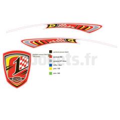 Autocollant spoiler Racing Berg 50.92.47.76