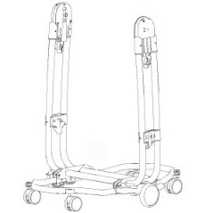 Chassis de Chaise Haute Tatamia Peg-Pérego Blanc