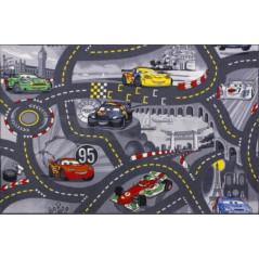 Tapis circuit Cars Gris 95 x 133 cm