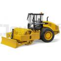 Bulldozer Compacteur vibrant Caterpillar Bruder 02450 Engins de chantiers