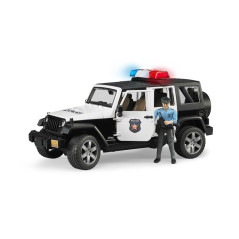 Jeep Wrangler Unlimited Rubicon Police Avec Personnage Bruder 02526 BRUDER 02526