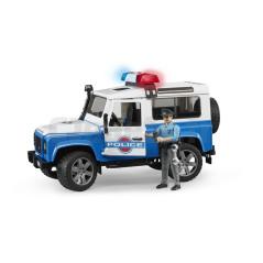 Land Rover Defender Police Avec Personnage Bruder 02595