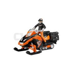 Moto Neige Avec Personnage Bruder 63101