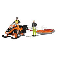 Moto Neige Avec Personnage Traineau De Sauvetage Akia Et Skieur Bruder 63101