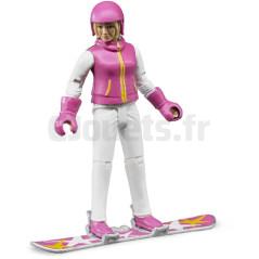 Femme En Snowboard Avec Accessoires - BRUDER - 60420