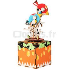 Kit Boîte à musique en bois « Oiseaux » 10290