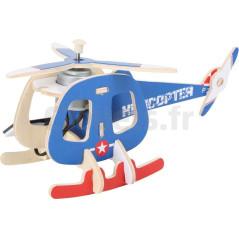 Kit en bois Hélicoptère solaire 6949