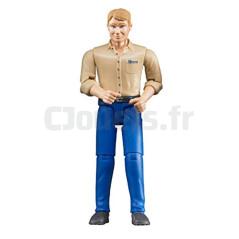 Figurine Homme Blond - BRUDER - 60006
