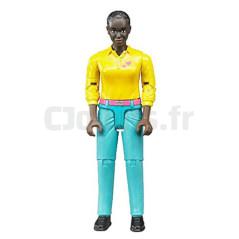 Figurine femme de couleur - BRUDER - 60404