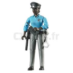 Femme Policier De Couleur Avec Accessoires - BRUDER - 60431