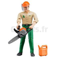 Figurine bucheron avec accessoires forestiers - BRUDER - 60030