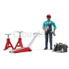 Set mécanicien avec figurine et accessoires - BRUDER - 62100 BRUDER 62100