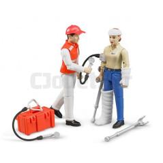 Set service de secours, figurines et accessoires - BRUDER - 62710