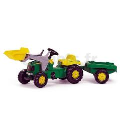 Tracteur à Pédales John Deere + Pelle Avant + Remorque Rolly Toys 023110