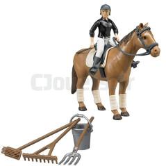 Cavalière Avec Cheval Et Accessoires Bruder 62505
